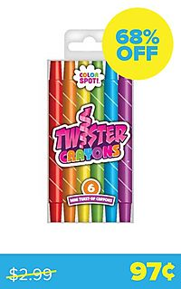 Twister Crayons (Set of 6 Twist-Up Crayons)