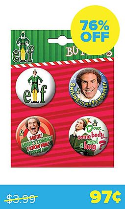 Elf Movie 4-Button Set