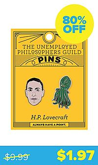 H. P. Lovecraft & Cthulhu Pins
