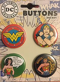 Wonder Woman 4-Button Set (DC Comics)