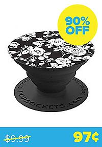 Monochrome Rose Popsocket