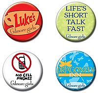 Gilmore Girls 4-Button Set
