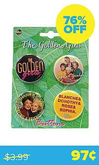 Golden Girls 4-Button Set