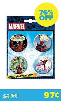 Deadpool 4-Button Set (Marvel)