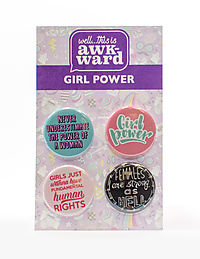 Girl Power 4-Button Set