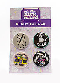 Ready To Rock 4-Button Set