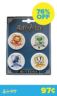 Harry Potter Charms 4-Button Set