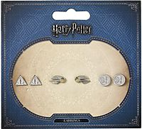 Harry Potter Earrings (Set of 3 Pairs) Deathly Hallows/ Golden Snitch/ Platform