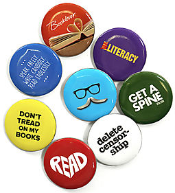 Free Literary Button Perfect For Booklovers (Design Will Vary)