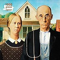 Grant Wood - American Gothic 1000pc Puzzle